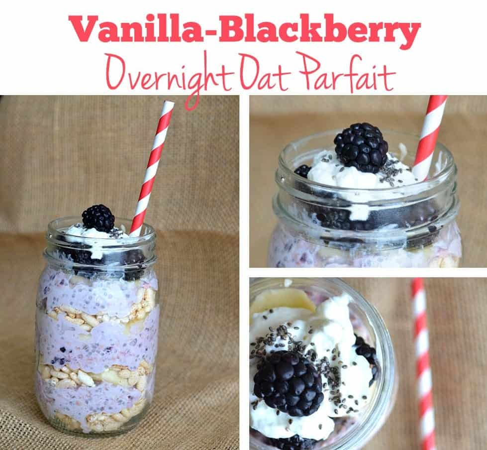 This vanilla-blackberry overnight oat parfait will fulfill all of you yummy breakfast wants and more! Make this recipe the night before to enjoy a no-hassle breakfast ready to go as soon as you wake up.