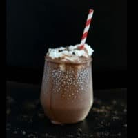 Dark Chocolate Peppermint Protein Shake