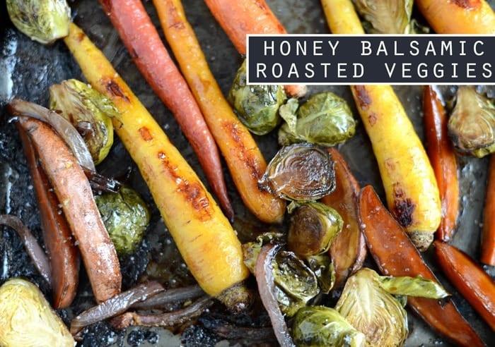 Honey Balsamic Roasted Veggies