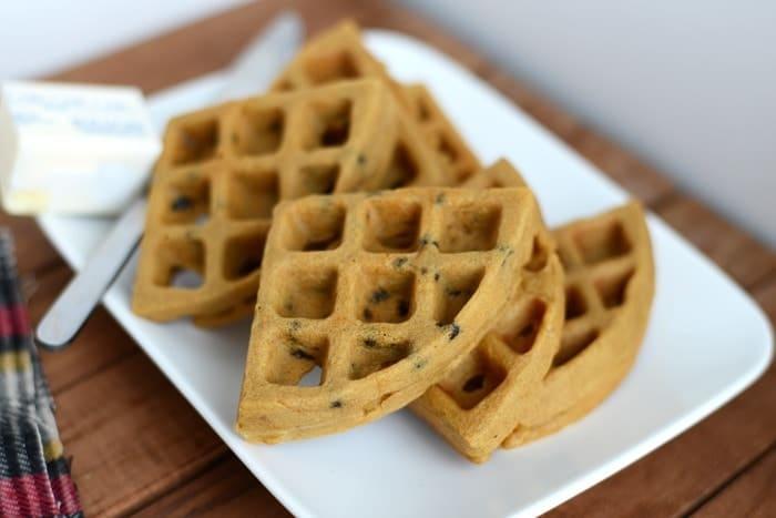 Gluten Free Gingerbread Spice Waffles