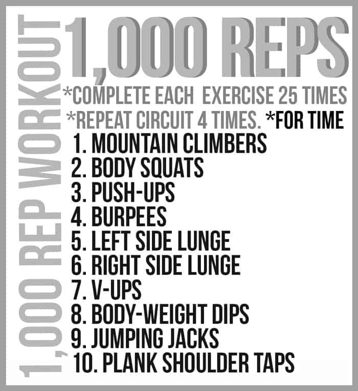 1,000 Rep Workout #Fitfluential #MOVE