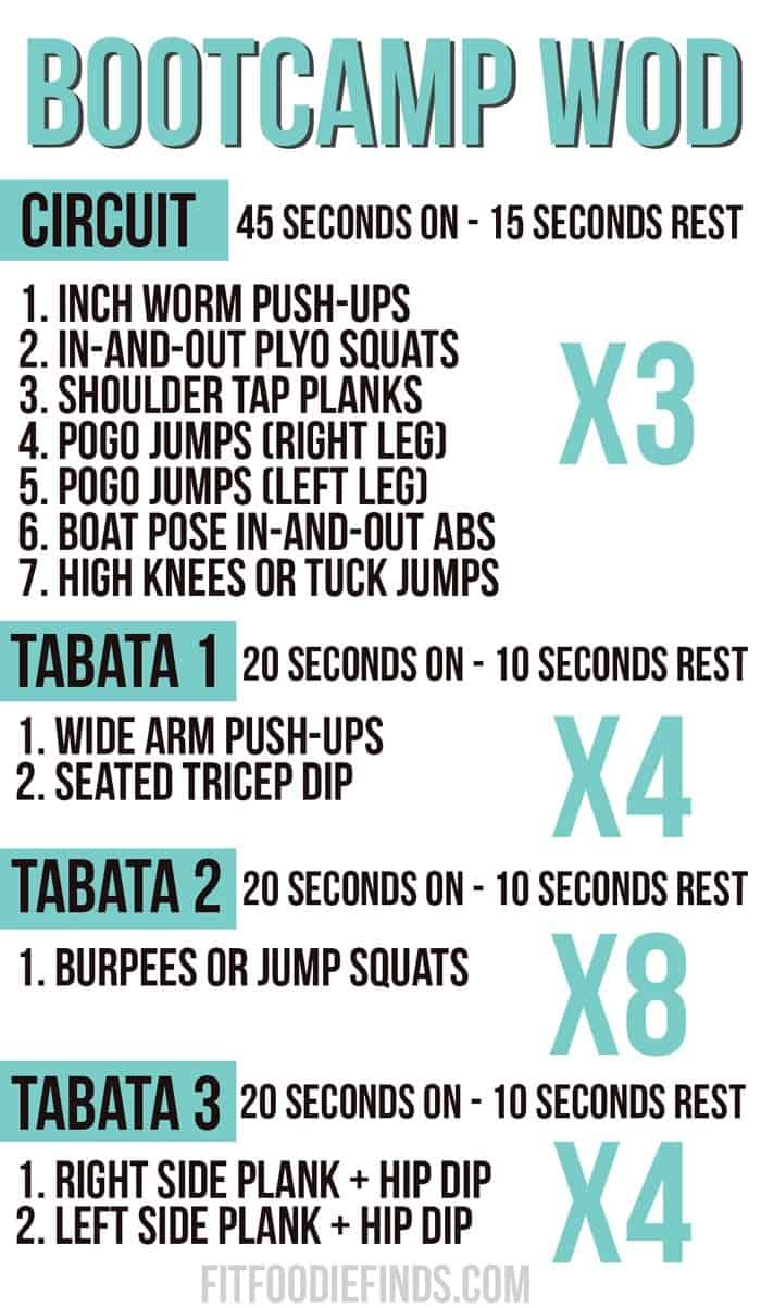 Bootcamp WOD #Fitfluential #MOVE