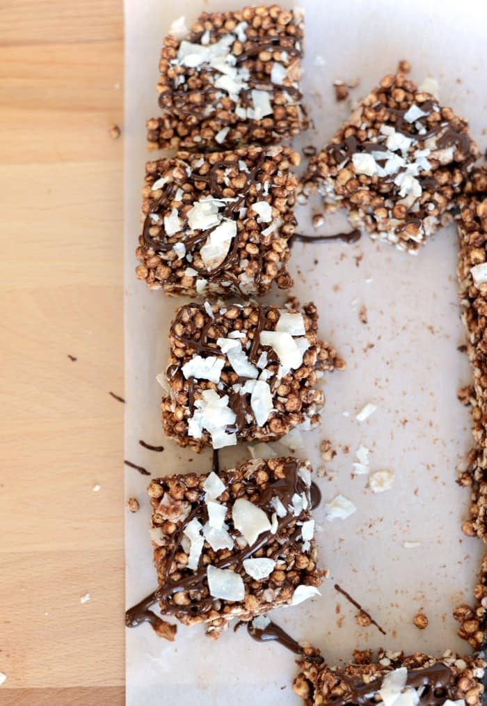 Coconut Chocolate Peanut Butter Snack Bars #Fitfluential #EAT
