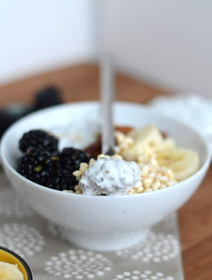 Chia Yogurt Bowl #fitfluential #EAT