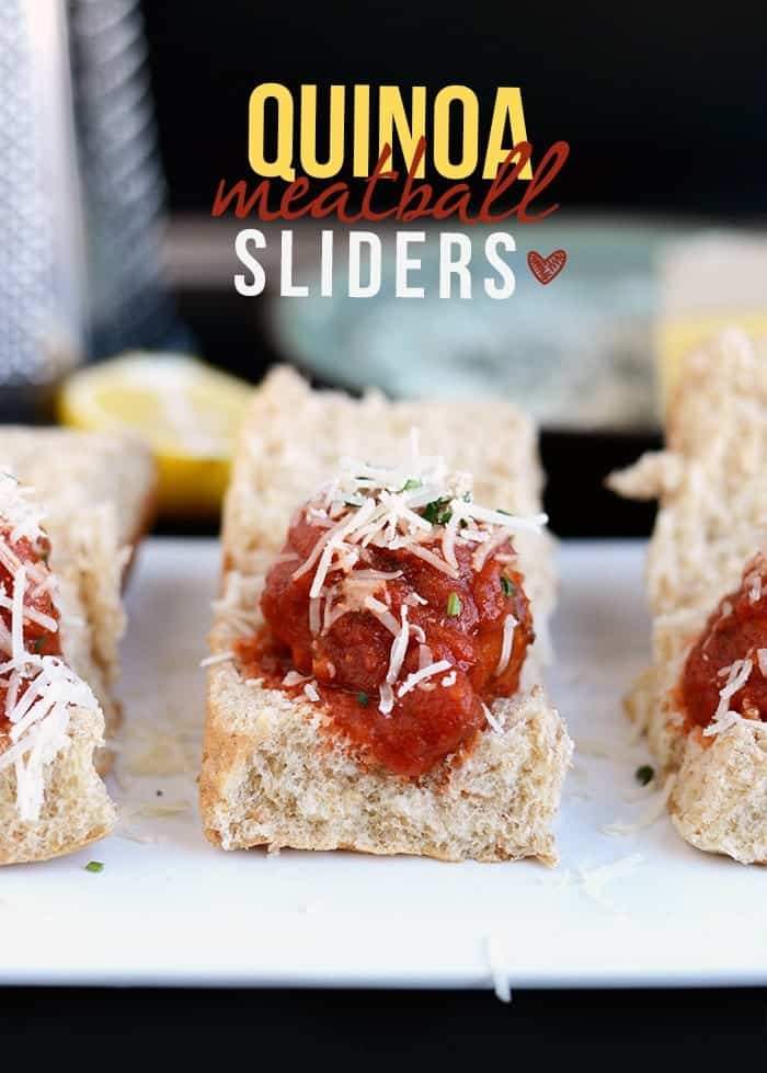Turkey Quinoa Meatball Sliders