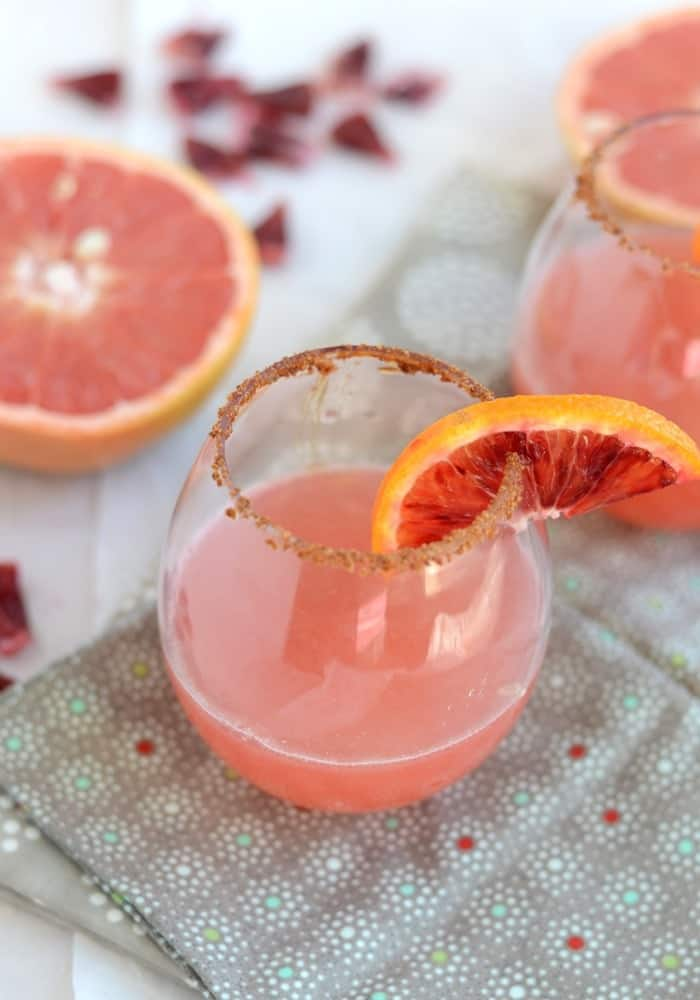 Blood Orange and Grapefruit Mocktail - Add rum for a little kick!