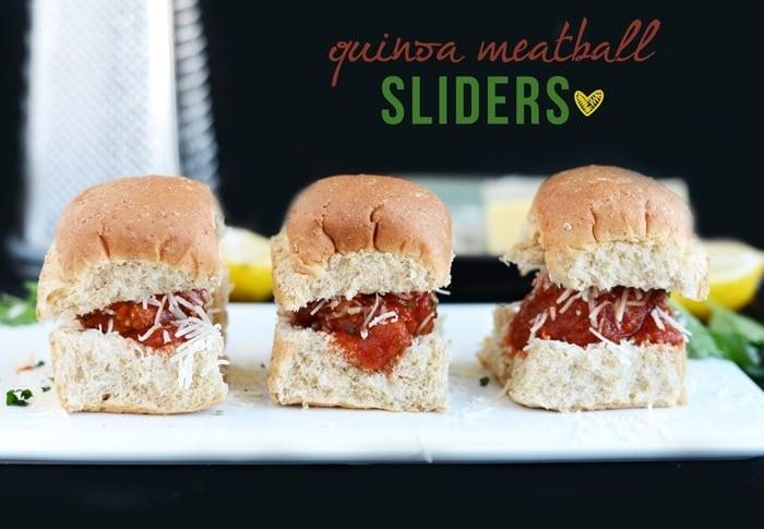 Quinoa Meatball Sliders
