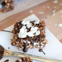 Coconut Chocolate Peanut Butter Snack Bars