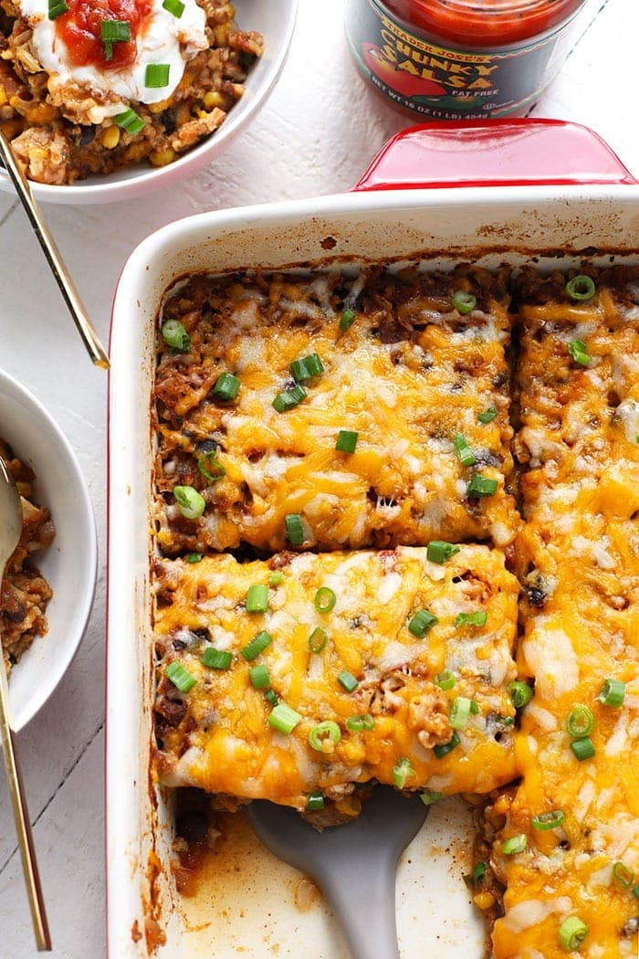 Southwestern Chicken Casserole 29g Protein Fit Foodie Finds