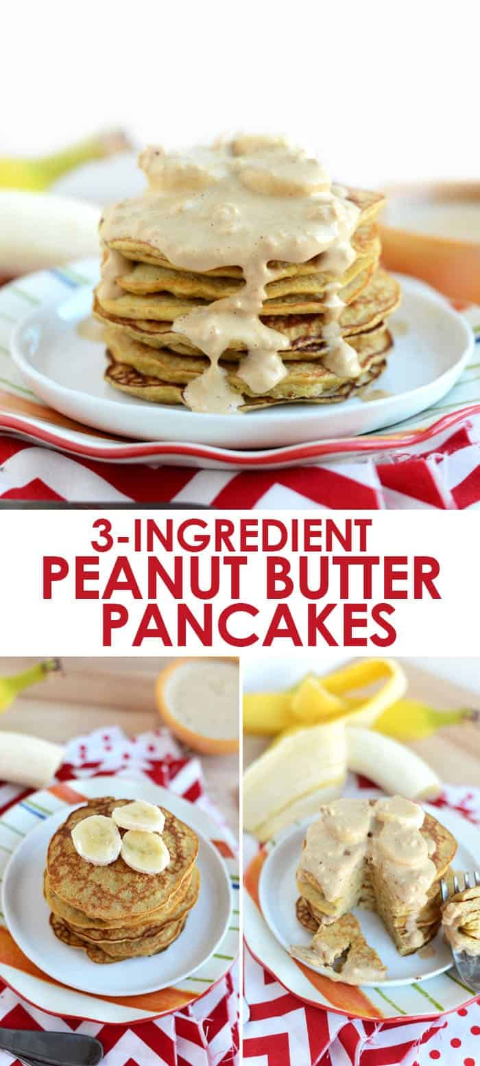 3 ingredient peanut butter pancakes fit foodie finds make these peanut butter pancakes with just 3 ingredients theyre low fat ccuart Image collections