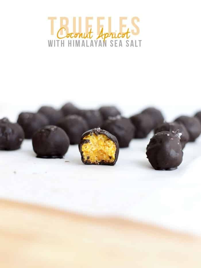 Coconut Apricot Truffles with Himalayan Sea Salt