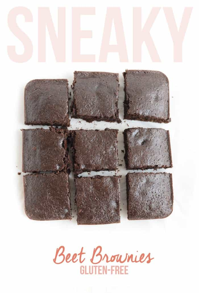 Have your dessert and vegetables too! Sneak some beet puree into your brownie recipes for the most delicious and HEALTHY Sneaky Beet Brownies.