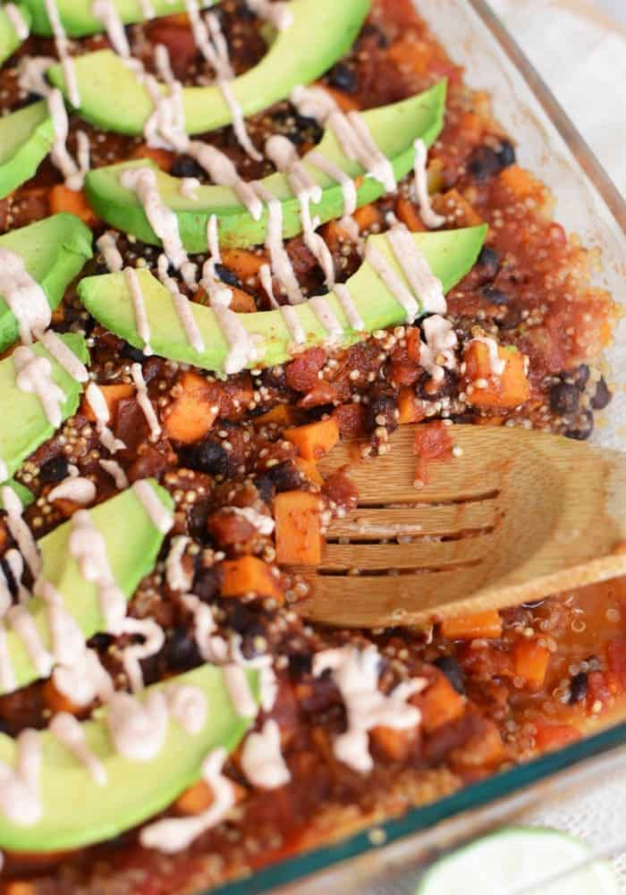 Mexican Quinoa and Sweet Potato Casserole