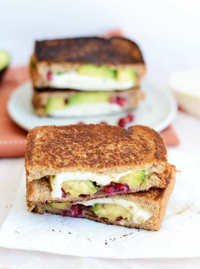 Avocado Pomegranate Grilled Cheese #FitFluential
