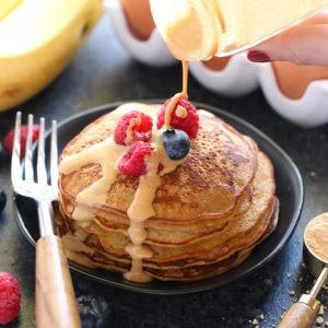 3 Ingredient Pb2 Pancakes Fit Foodie Finds