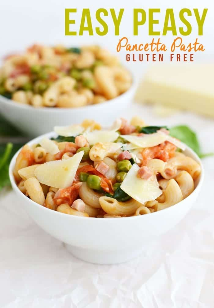 Easy Peasy Pancetta Pasta #GlutenFree from FITFOODIEFINDS.COM