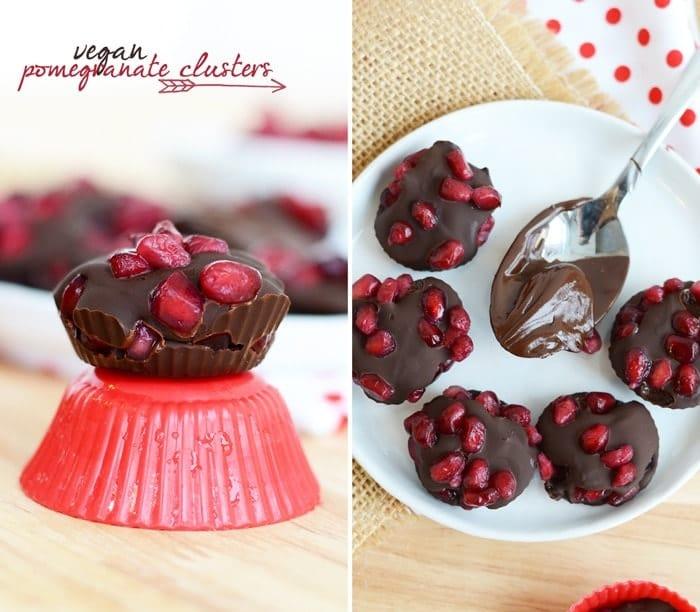Super Simple Vegan Pomegranate Clusters #GlutenFree #Vegan