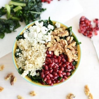 Winter Pomegranate Salad + Snow Shoeing Adventure