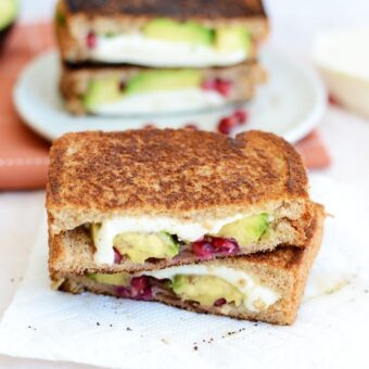 Avocado Pomegranate Grilled Cheese + Site Changes!