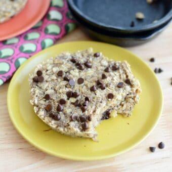 Single Serve Oatmeal Chocolate Chip Cookie [Vegan]