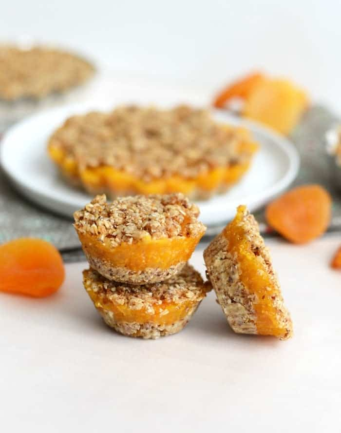 3-Layer Raw Apricot Tarts - Vegan