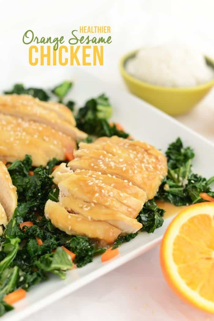Healthy Orange Sesame Chicken via FITFOODIEFINDS.COM