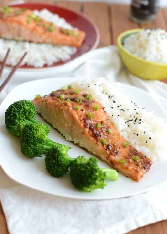 Super Tasty Asian Salmon via FitFoodieFinds.com