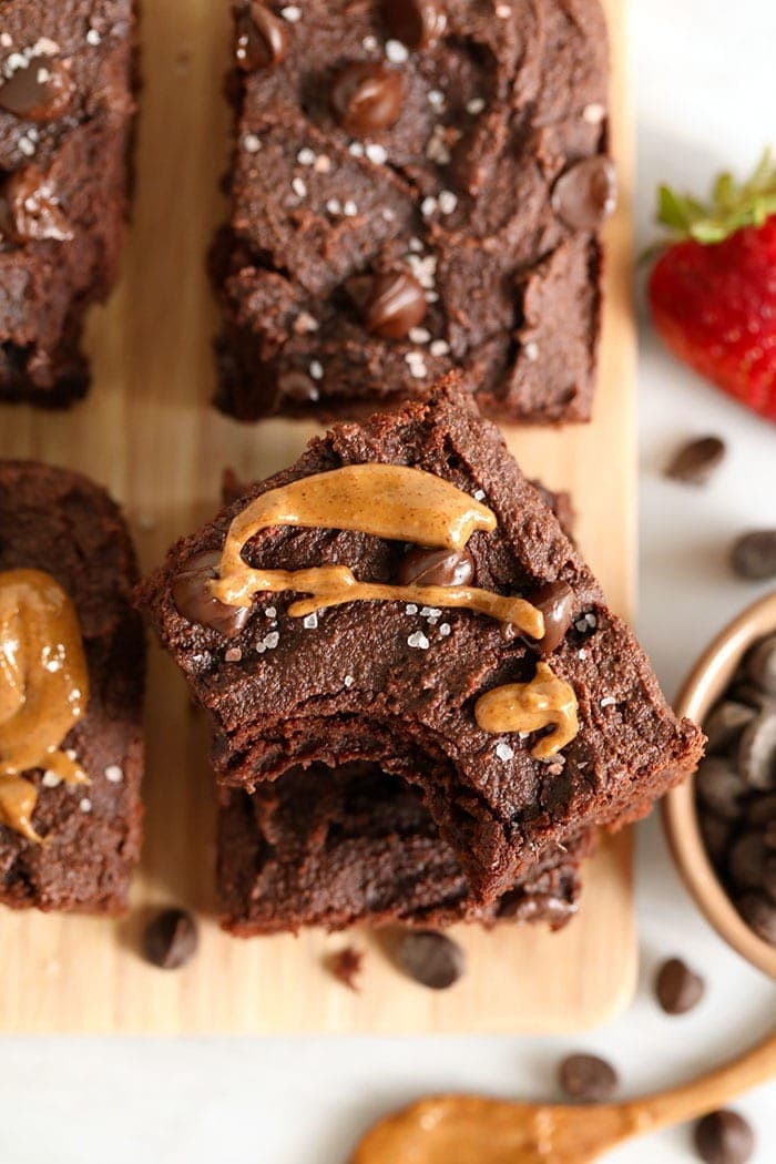 brownie with almond butter on top