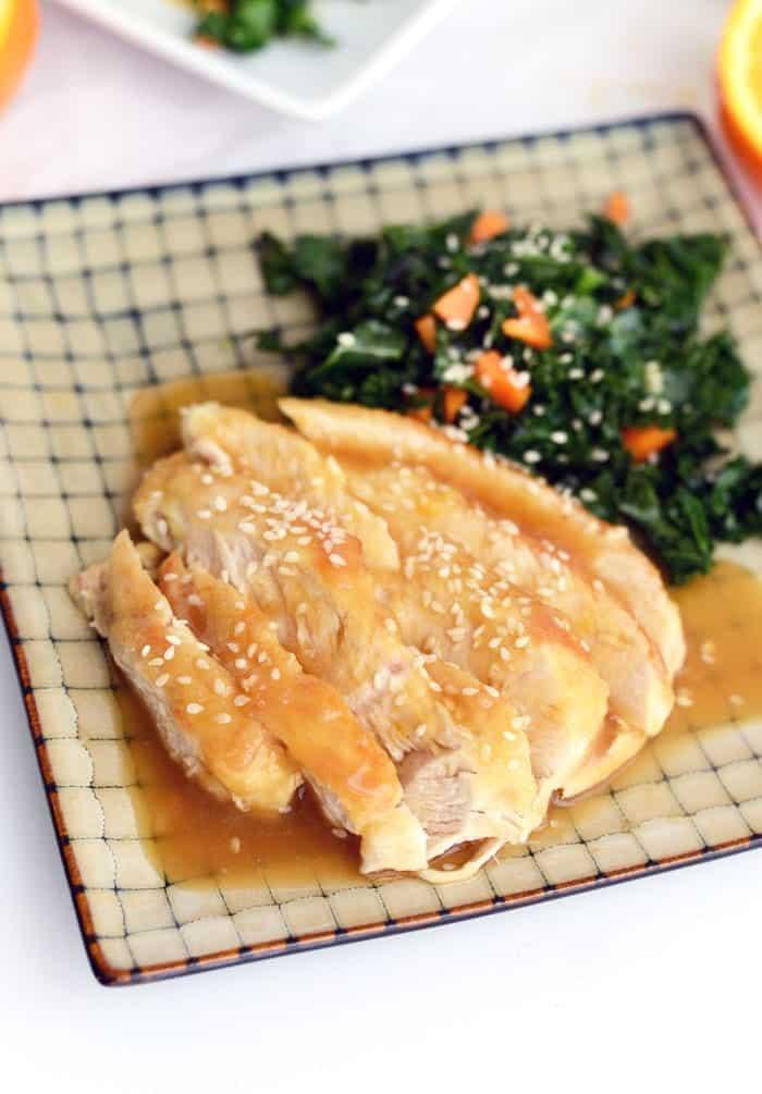 Healthy Orange Sesame Chicken via FITFOODIEFINDS.COM