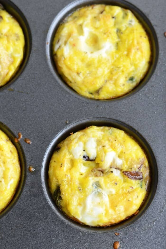 Asparagus and Shiitaki Mushroom Frittatas #GlutenFree via FitFoodieFinds.com