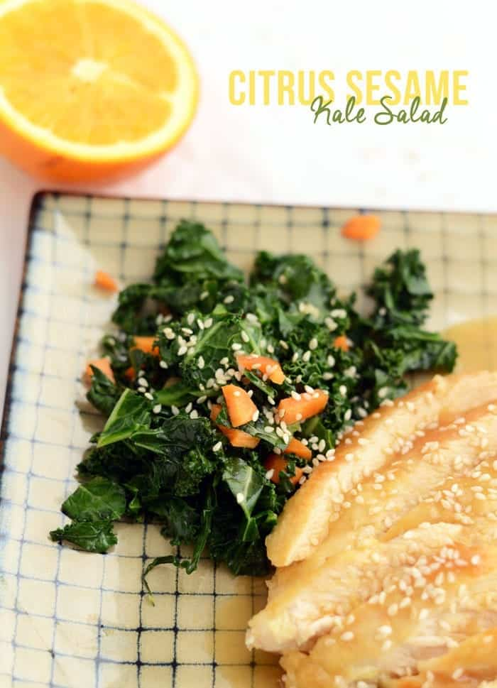 ... made a kale salad in citrus sesame kale meyer citrus sesame kale salad
