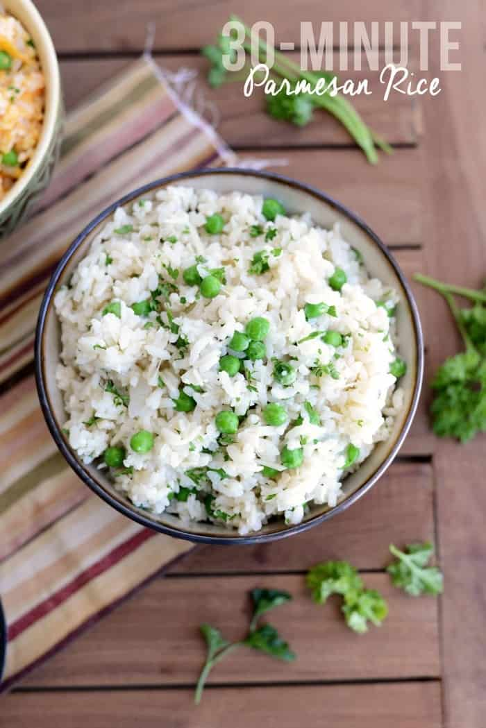 30-Minute Parmesan Rice | FitFoodieFinds.com