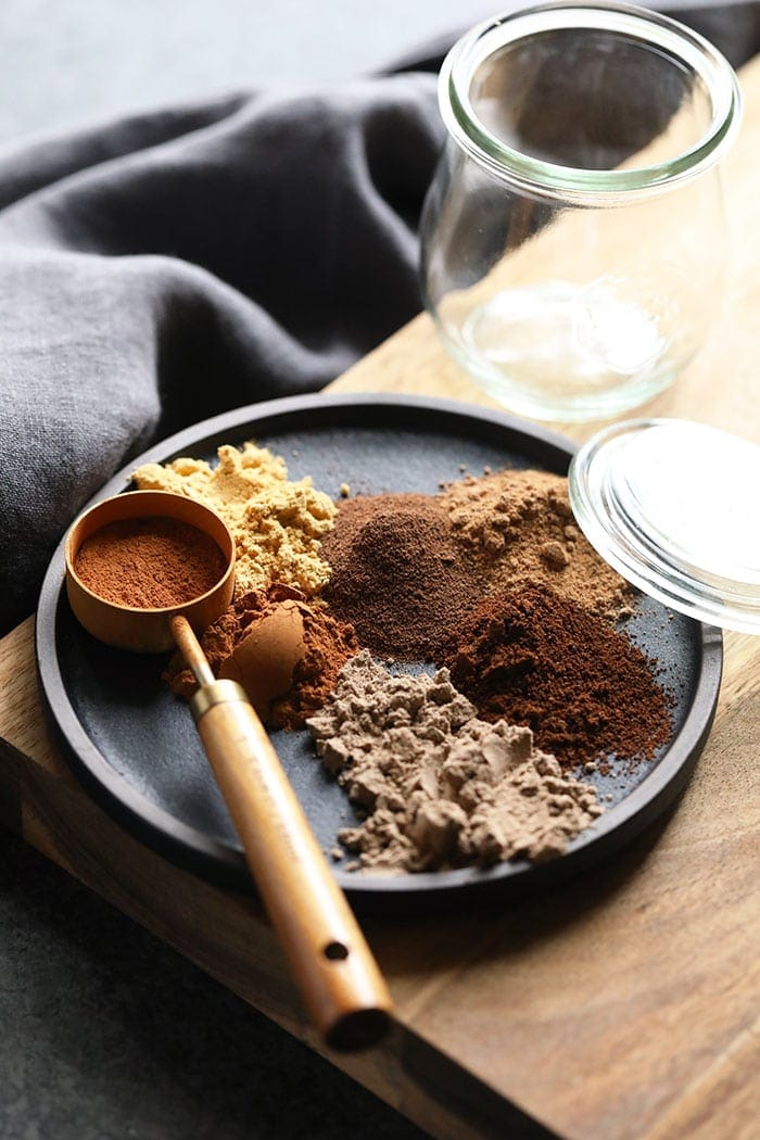 chai spices on a plate