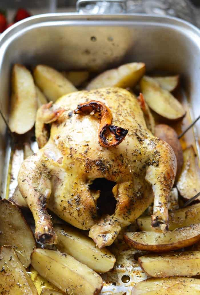 How to Roast a Whole Chicken, it's easier than you think! #Recipe #Healthy