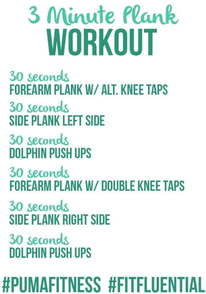 3 Minute Plank Workout #FitFluential #PumaFitness #Puma #FFAprilAbs