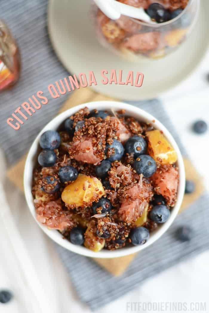 Citrus Quinoa Salad- the perfect dish to bring to a BBQ to share! #glutenfree