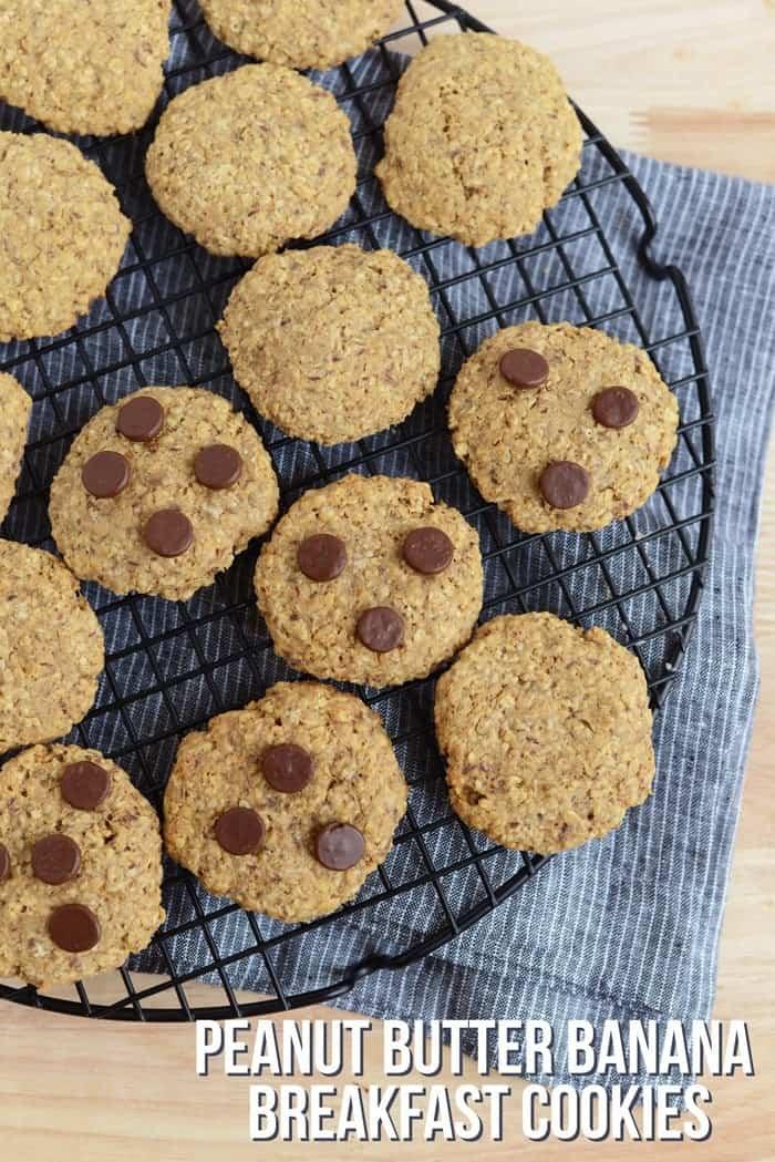Peanut Butter Banana Breakfast Cookies- vegan and gluten free!