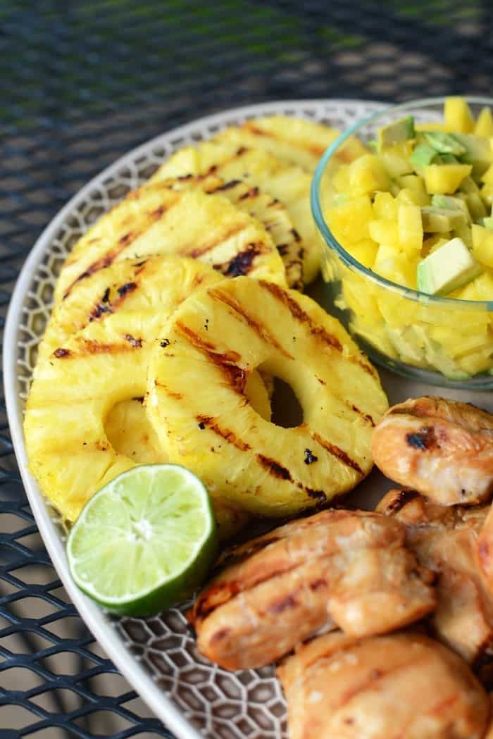 Tropical Teriyaki Chicken Breasts with Grilled Pineapple ...