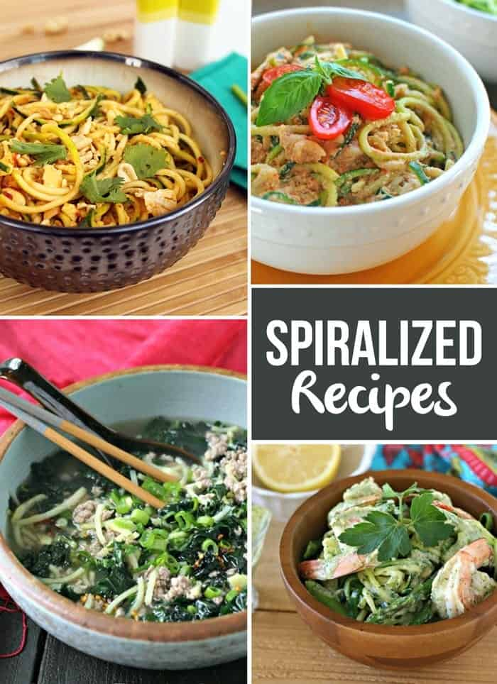 Roasted Easy Herby Spiralized Vegetables Fit Foodie Finds