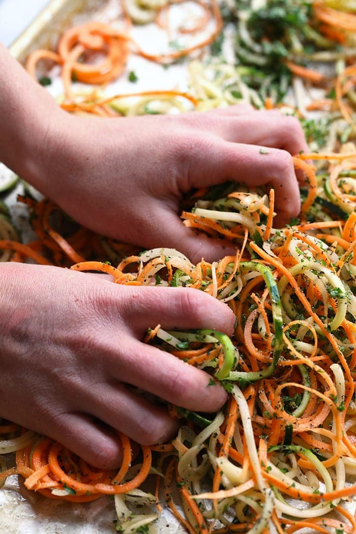 Get inspired to use your spiralizer and make these roasted, flavorful spiralized vegetables. PLUS, 20 ways to take your spiralized veggies to the next level by turning them into yummy, nutrient-packed recipes bursting with flavors!