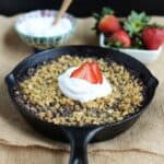 Strawberry Peach Quinoa Crumble