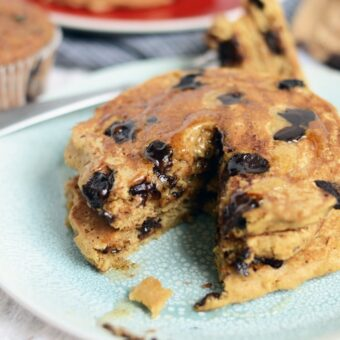 The Best Oatmeal Chocolate Chip Pancakes
