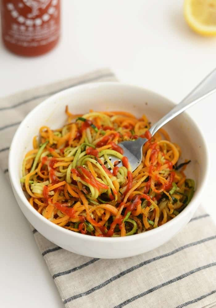 Roasted, Easy, Herby Spiralized Vegetables