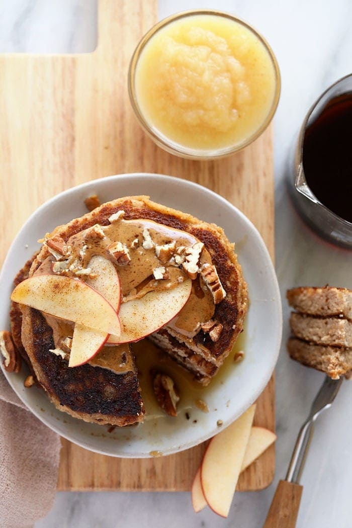 applesauce pancakes on a plate