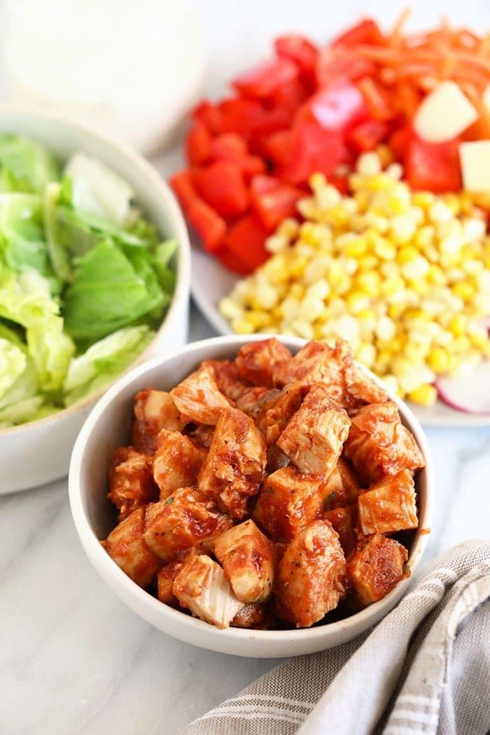 BBQ chicken in a bowl
