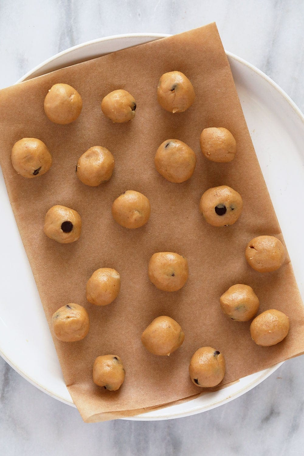 Cookie dough on a plate