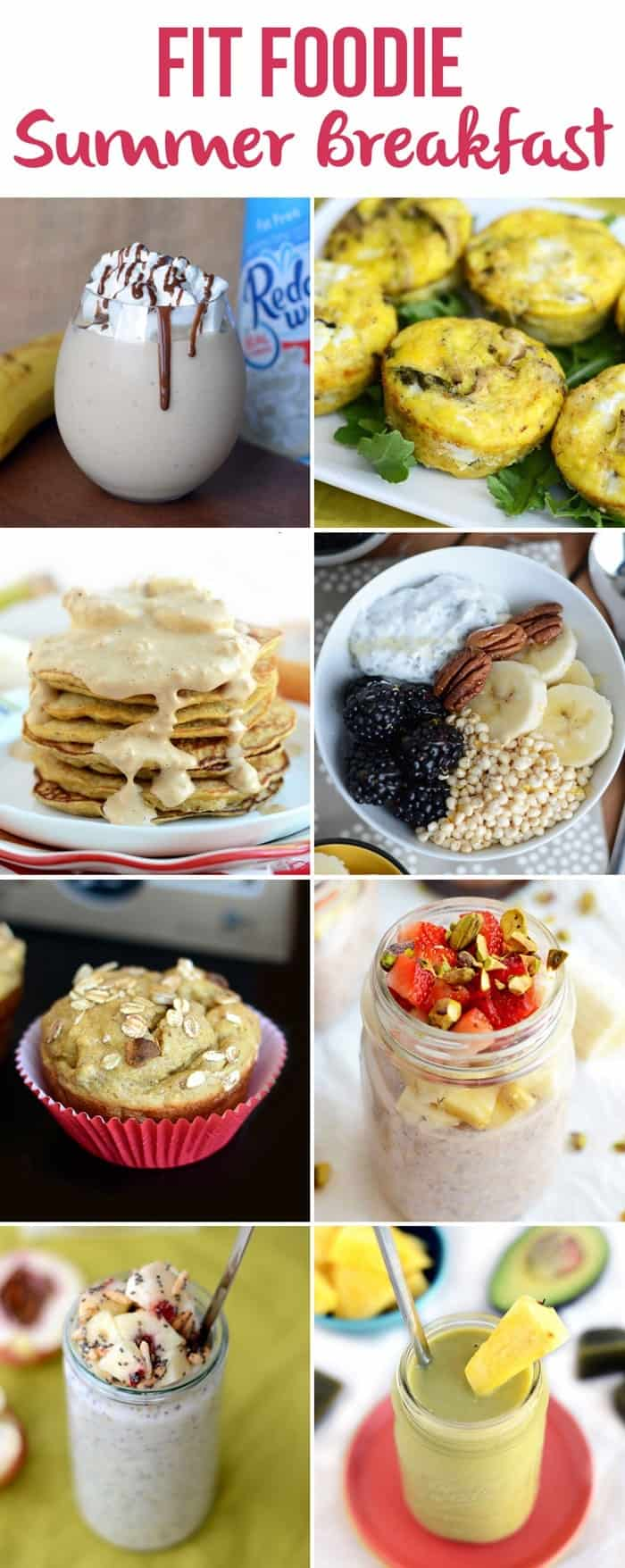 Fit Foodie Summer Breakfasts + 34 other Healthy Summertime Recipes! via FitFoodieFinds.com