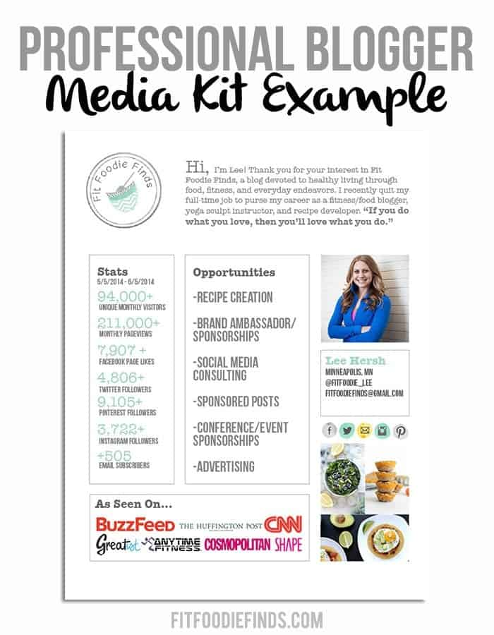 advertising media kit template - blogging biz how to sell yourself to a client fit