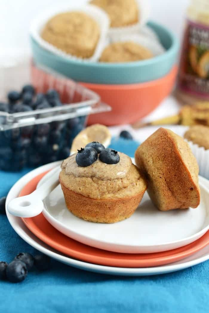 Almond Butter Banana Bread Muffins via FitFoodiefinds.com