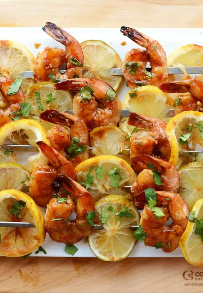Lemon Lime Asian Shrimp Kebabs- the perfect summer app!